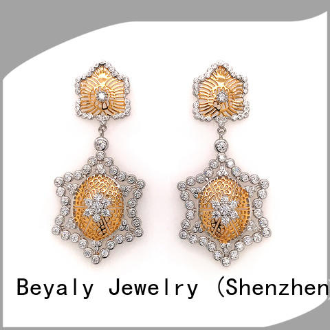 BEYALY Wholesale white ear studs for business for business gift