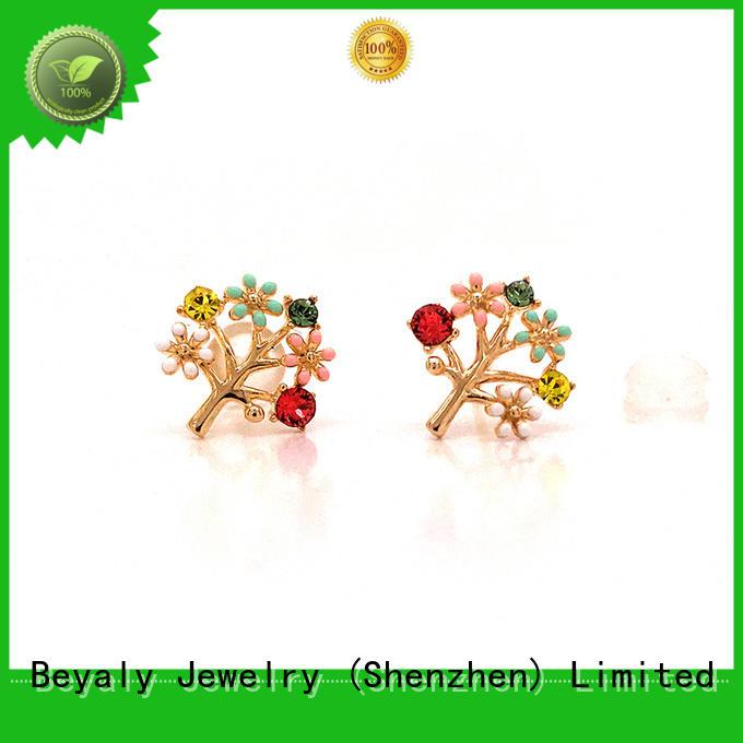 BEYALY small zirconia stud earrings for business gift