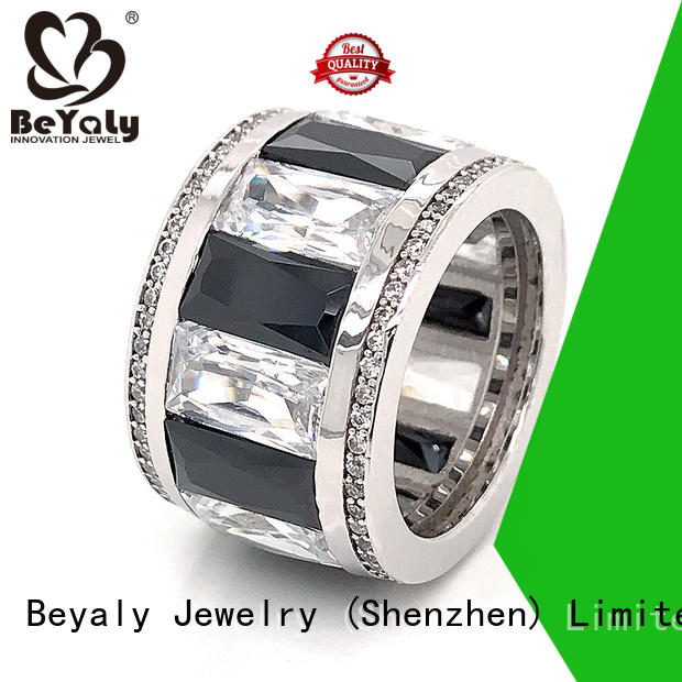 High-quality sterling silver cubic zirconia rings stone Suppliers for wedding