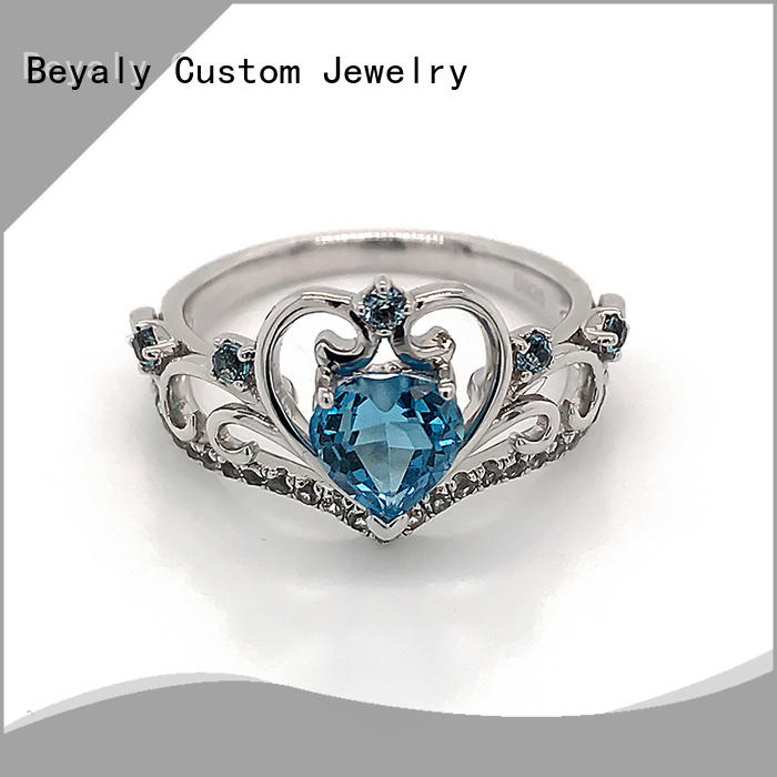 BEYALY inlay sterling silver ring company for daily life