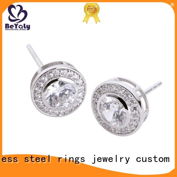 Wholesale circle stud earrings gemstone for business for advertising promotion
