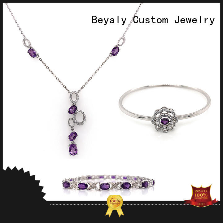 BEYALY cheap silver jewelry sets for anniversary celebration