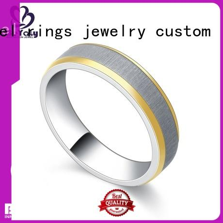 BEYALY satin platinum ring manufacturers for daily life