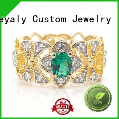 BEYALY rose gold queen crown ring for daily life