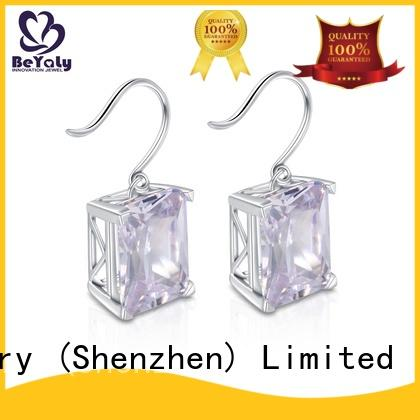 BEYALY shaped zircon earring supplier for business gift