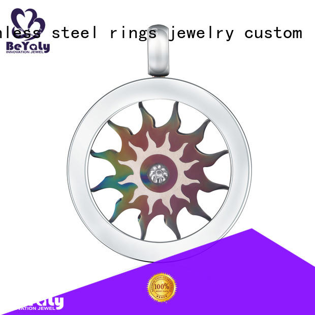 BEYALY stainless silver clover pendant manufacturers for girls