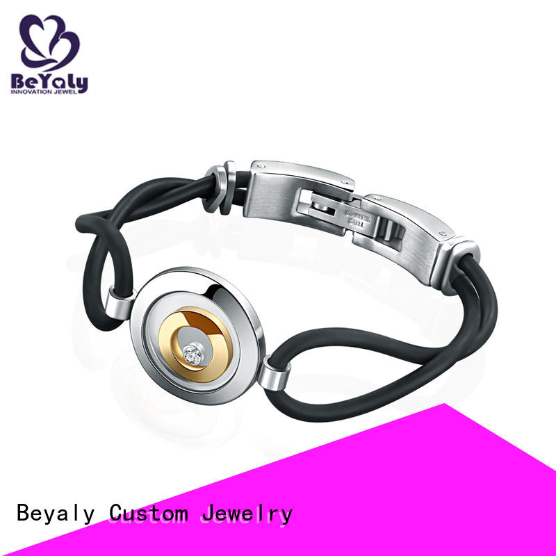 BEYALY gold plain silver bangle bracelet Supply for business gift