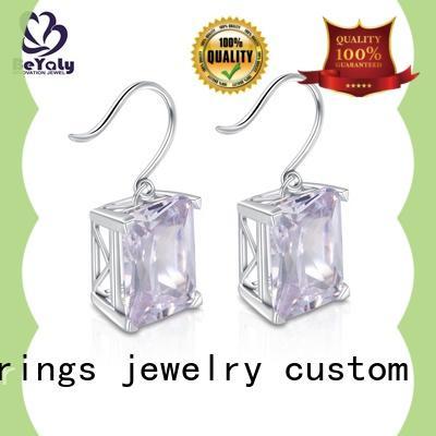 BEYALY classic zirconia stud earrings aaa for exhibition