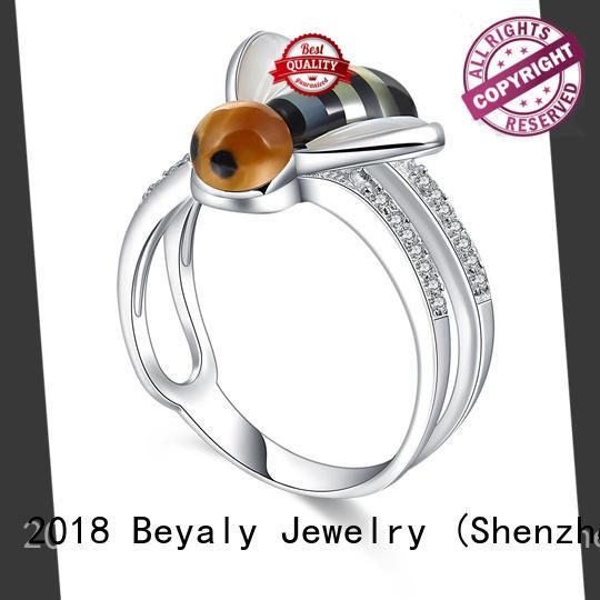 BEYALY sterling platinum diamond rings design for women