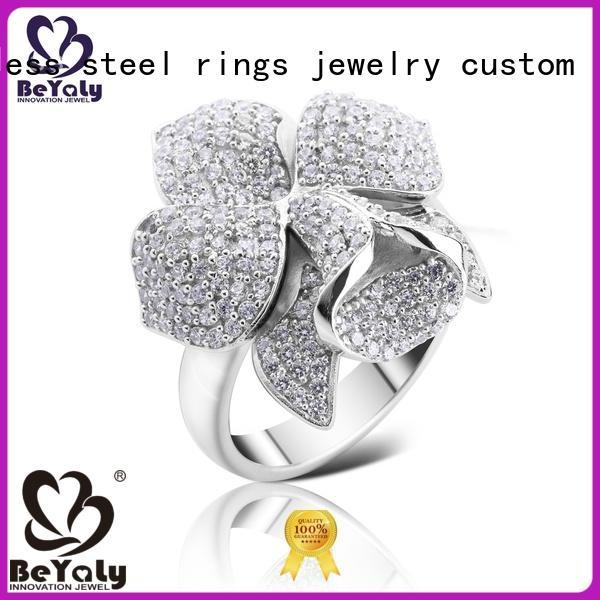 BEYALY ring platinum diamond band ring factory for wedding
