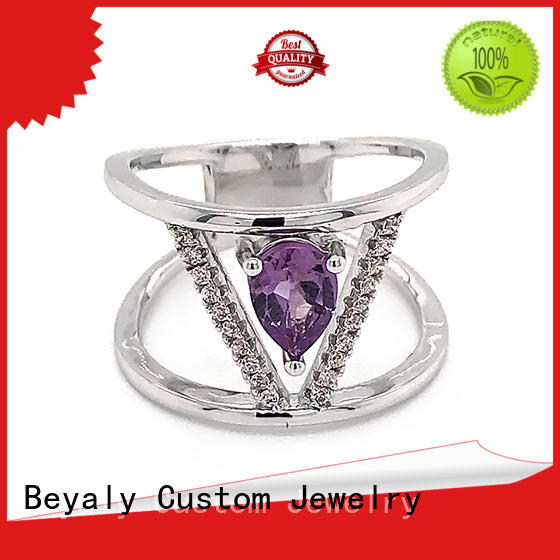 BEYALY New top rated diamond rings Suppliers for wedding