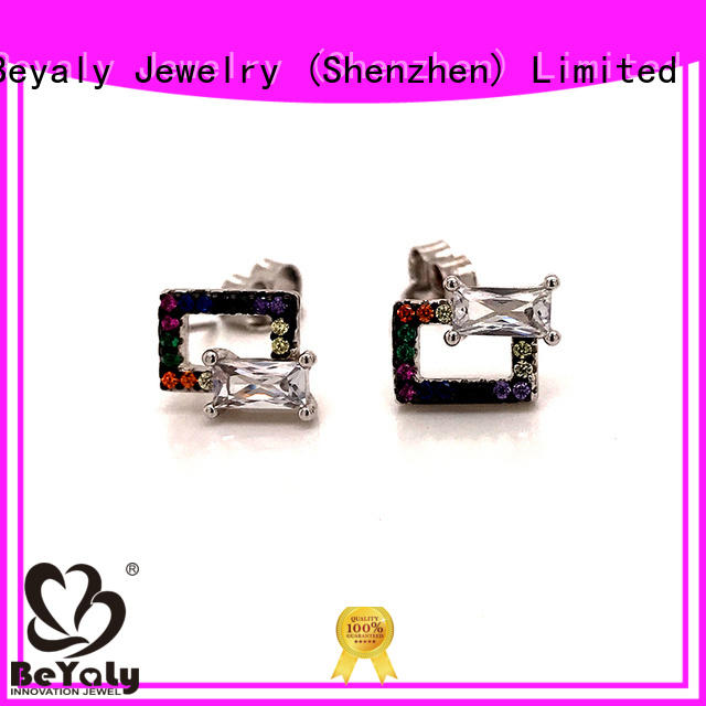 BEYALY Top rose gold stud earrings sale factory for anniversary celebration