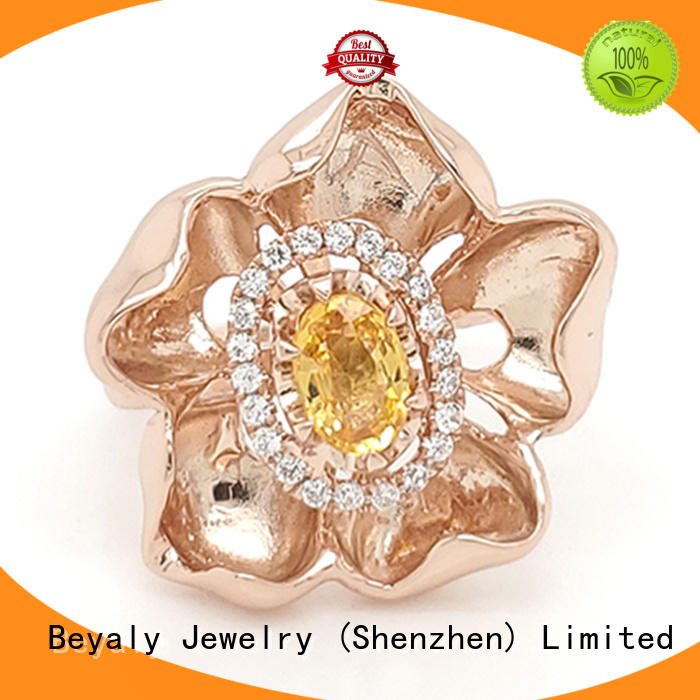 BEYALY jewelry initial ring online for women