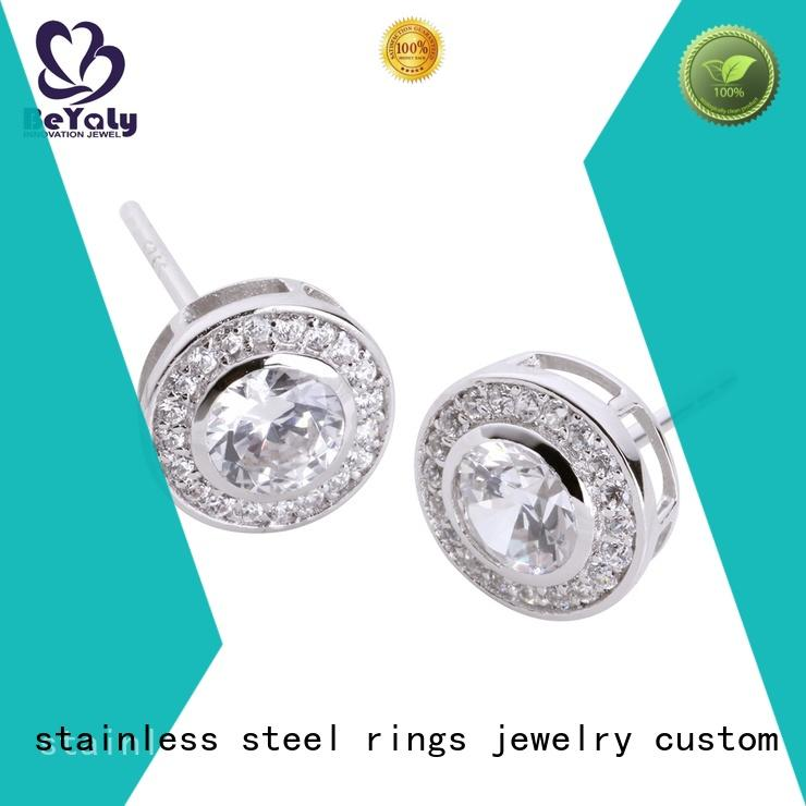 BEYALY classic zirconia stud earrings shape for women