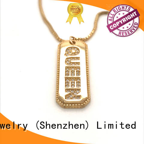 unique jewel pendant necklace fashion Supply for wife
