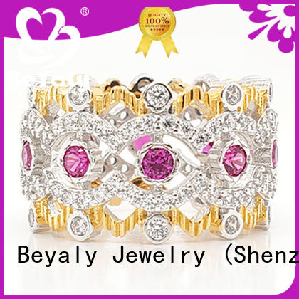 BEYALY top quality crown promise rings oem for daily life