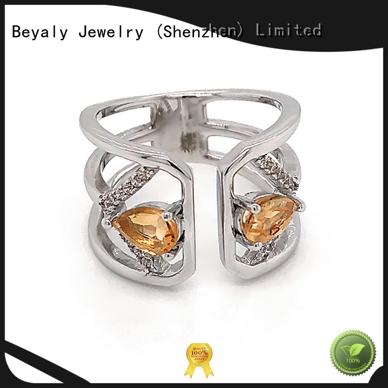 BEYALY Latest platinum diamond band ring for business for women