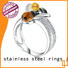 BEYALY Wholesale sterling silver cubic zirconia rings Supply for daily life
