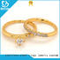 Top sterling silver ring gold factory for wedding