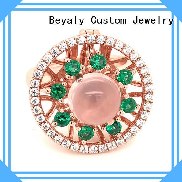 BEYALY silver biggest solitaire diamond ring Suppliers for women