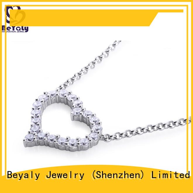 stylish jewel pendant necklace 18k factory for wife