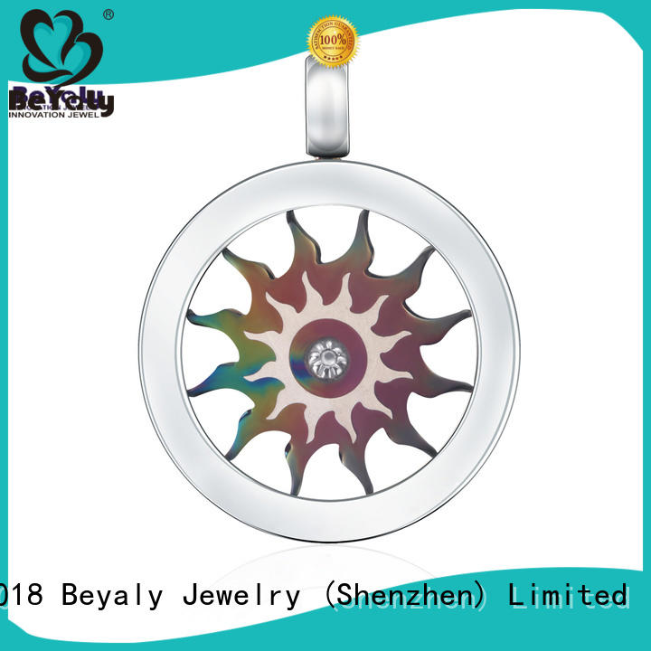 BEYALY tag silver clover pendant online for ladies