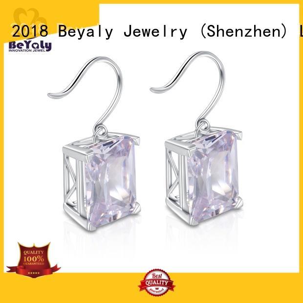 Custom aaa small diamond hoop earrings jewelry BEYALY