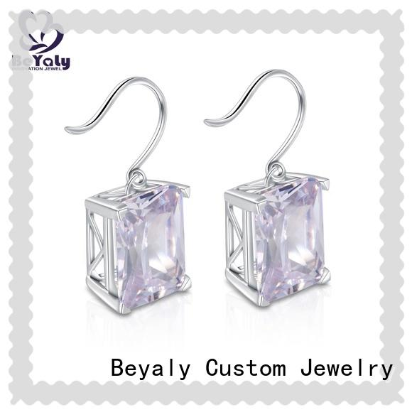 BEYALY round zircon earring Supply for business gift