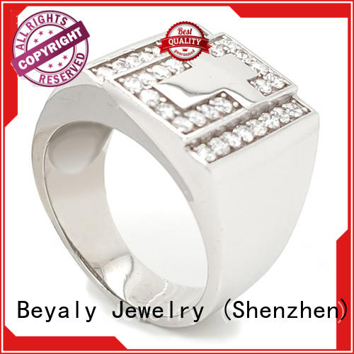 BEYALY Best sterling silver ring factory for men