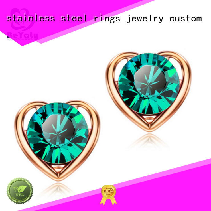 BEYALY clear cz stud earrings Suppliers for business gift