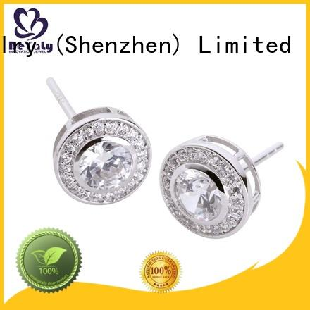 popular silver circle stud earrings promotion for exhibition