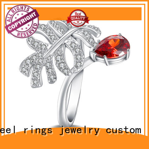 customized platinum diamond rings silver promotion for women