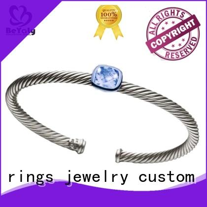BEYALY hot sell silver bangle bracelets inquire now for anniversary celebration