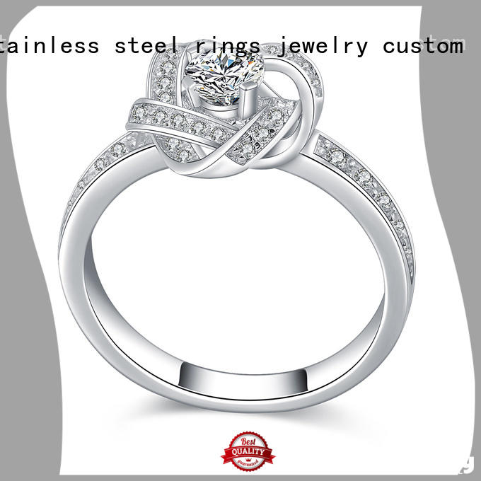 BEYALY steel platinum diamond rings company for men