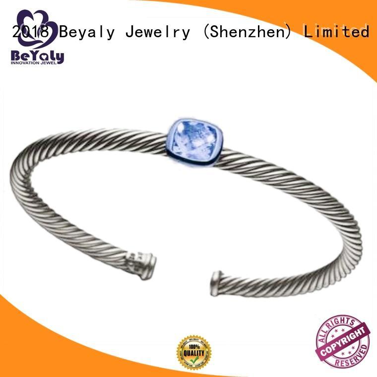 BEYALY adjustable cubic zirconia bracelet 304l for advertising promotion