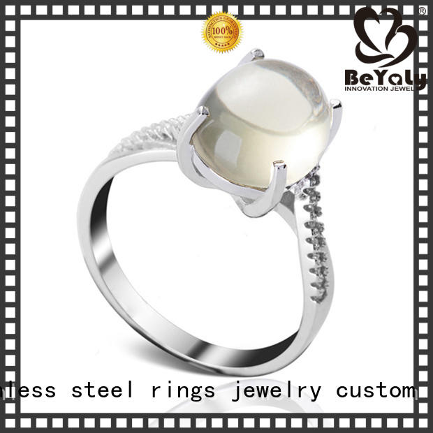 Top gold inital ring stainless factory for wedding