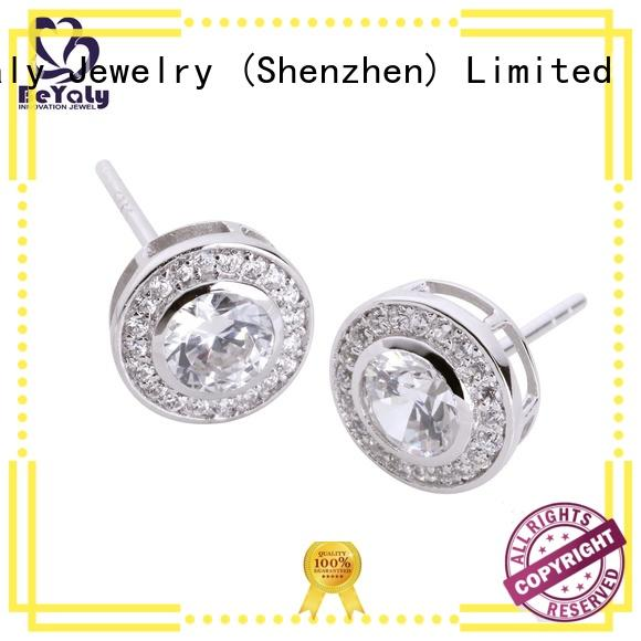 BEYALY New silver circle stud earrings Suppliers for exhibition