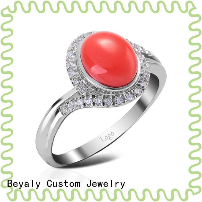 BEYALY inlay popular diamond ring settings for business for women