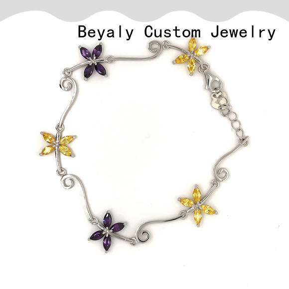 BEYALY popular small silver bangle bracelets factory for advertising promotion