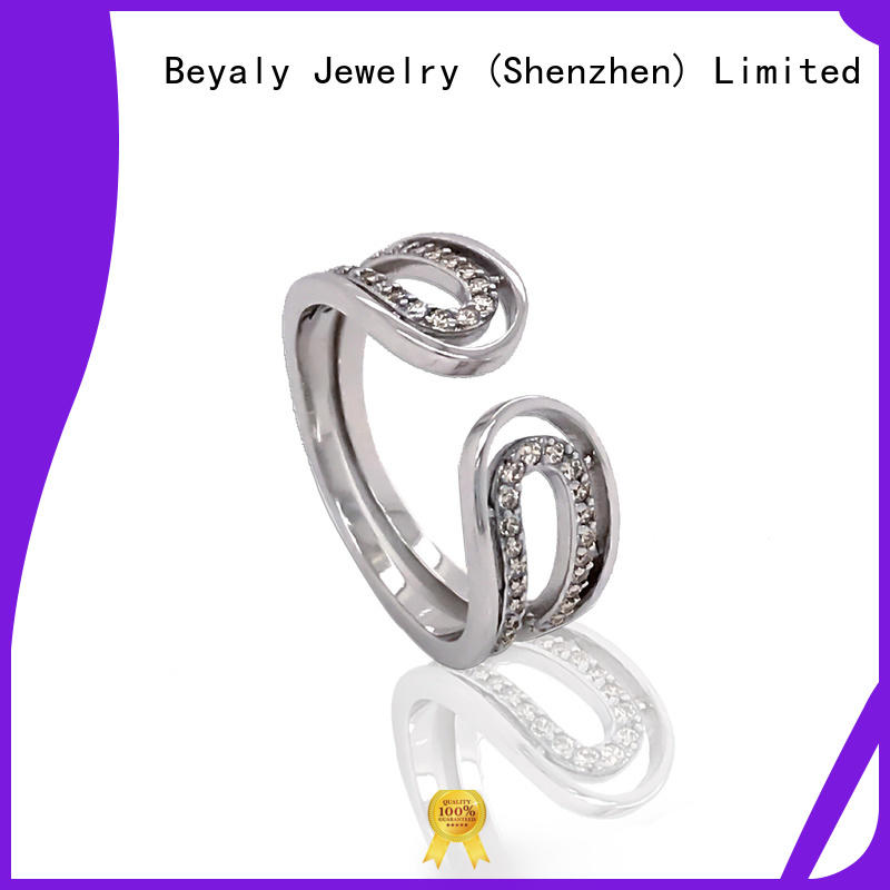 BEYALY steel platinum ring designs for business for daily life