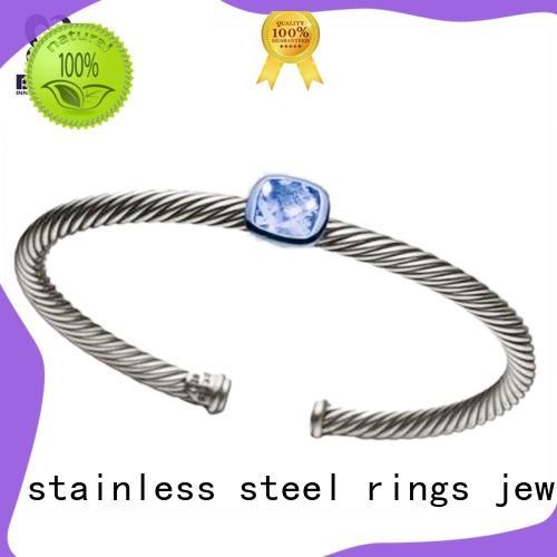 BEYALY popular silver bangle bracelets sets for business gift