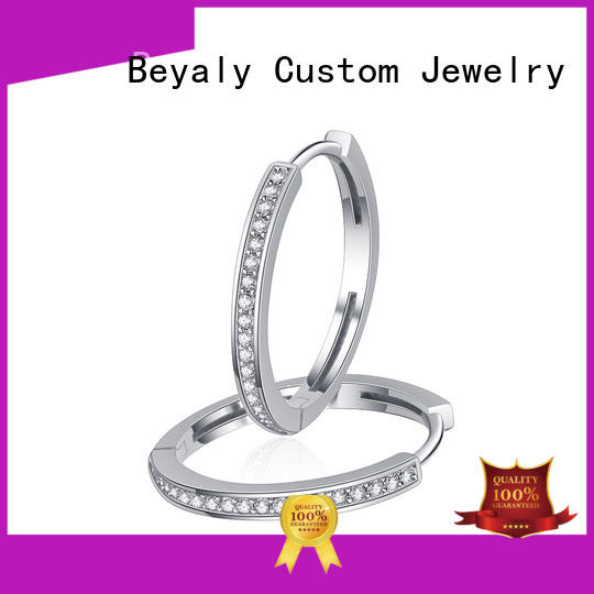 BEYALY pave beautiful earrings with price manufacturers for business gift