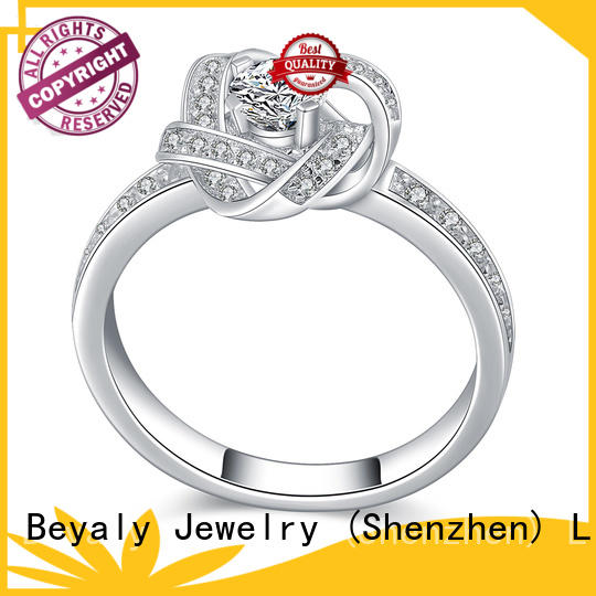 BEYALY Custom platinum diamond rings factory for women