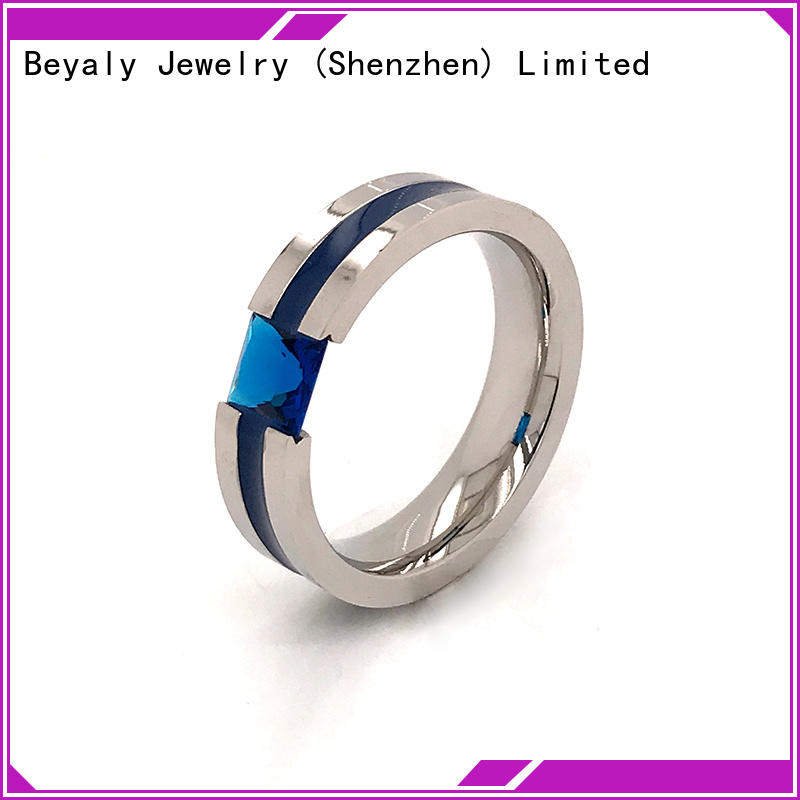 Custom over the top wedding rings stone Suppliers for women