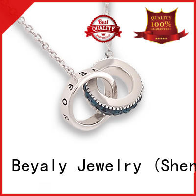 BEYALY stainless jewel pendant necklace Suppliers for girls