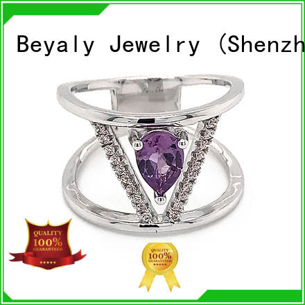 BEYALY numerals sterling silver cubic zirconia rings manufacturers for men