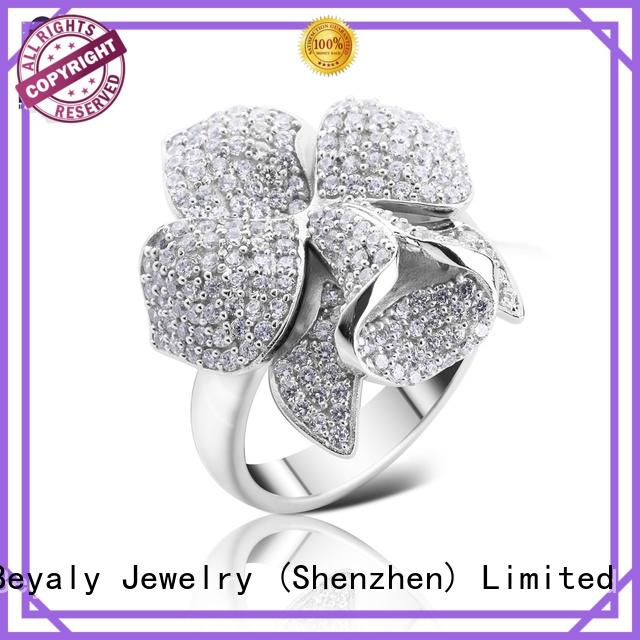 BEYALY edge platinum diamond rings online for daily life