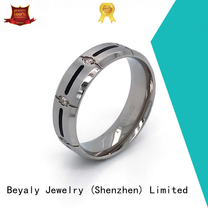 BEYALY exotic platinum diamond band ring Suppliers for daily life