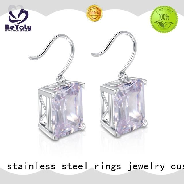 BEYALY fashion cz earring factory for advertising promotion
