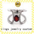 New platinum diamond rings silver Supply for wedding